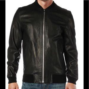 Zadig & Voltaire Mens Larko Black Jacket Leather L